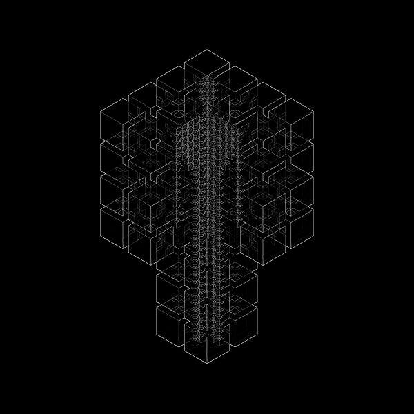 JP Migneco - Hypercube - 4D figure - tesseract -