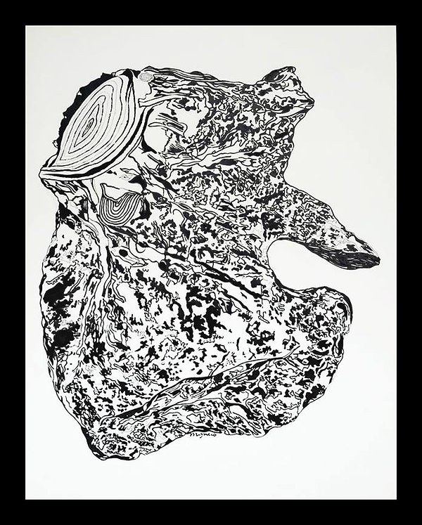 Pen & ink illustration regarding deforestation by JP Migneco