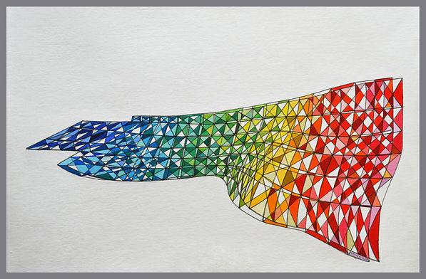 abstract colourfield geometric urban illusory landscape