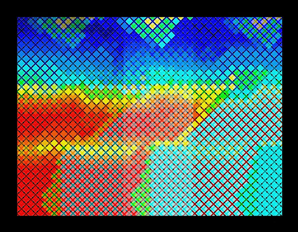 chromo-stereoscopic digital abstract geometric landscape topography painting by JP Migneco