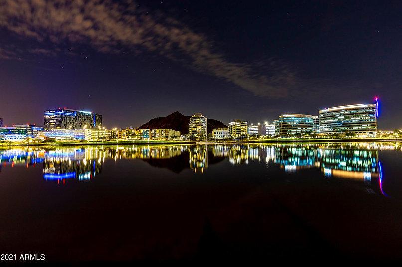 Night shot of Bridgeview Condominium
