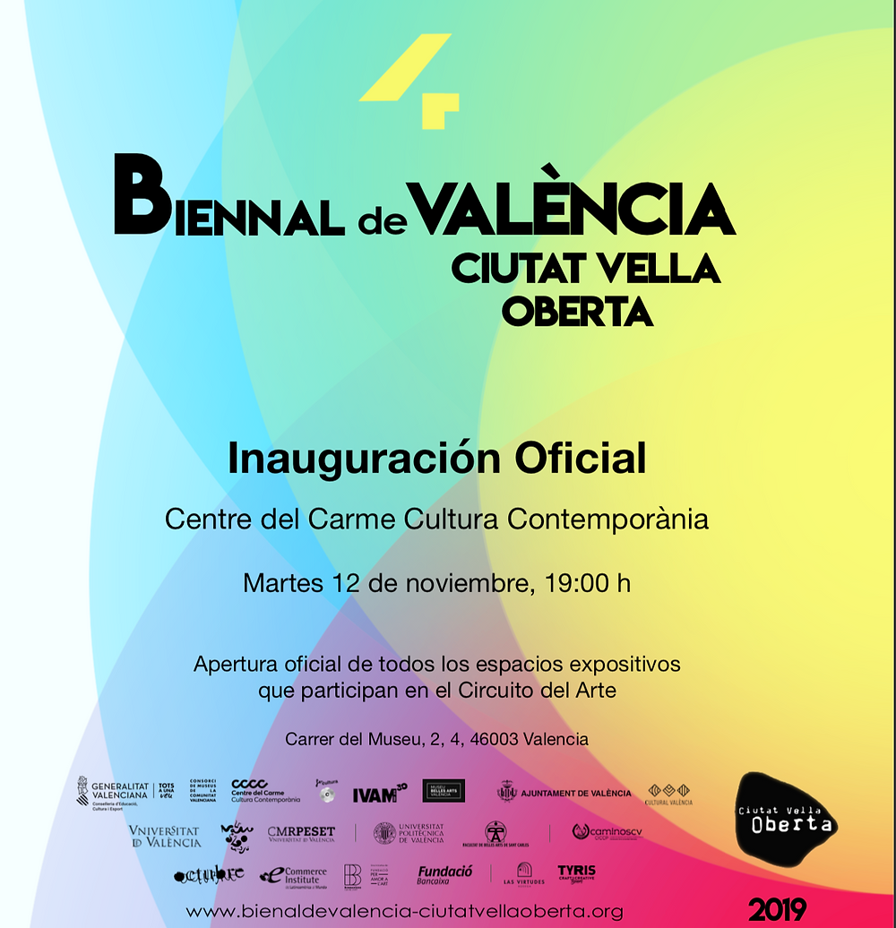 Invitación  al evento de inauguración de la Biennal
