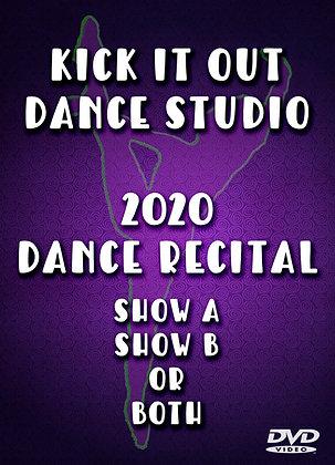 2020 Kick It Out Dance Recital DVD Package