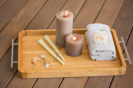 Tray of ear candling equipment at the spa.jpg