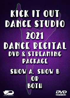 2021 Kick It Out Dance Recital DVD Package