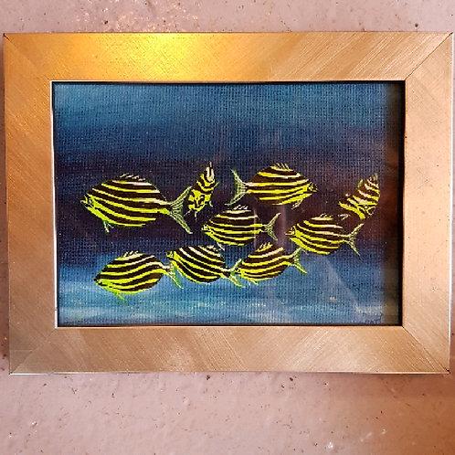 Len Hatcher framed fish painting