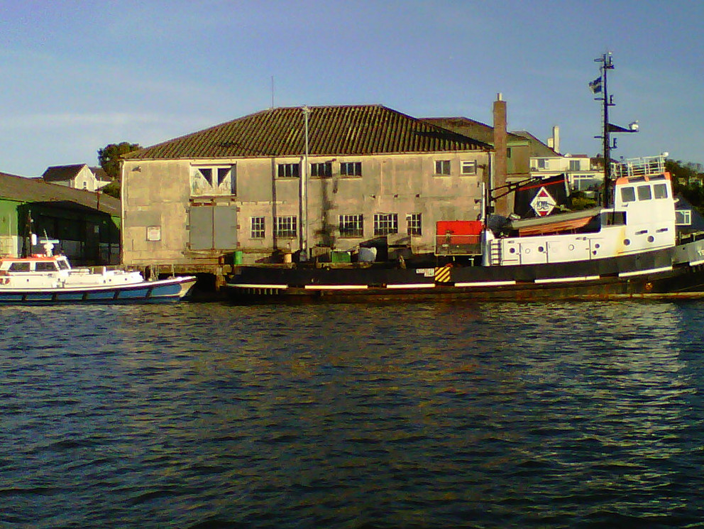 The old Fish Factory from the river