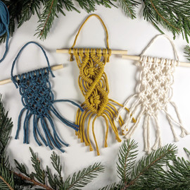 Mini Macrame Ornaments