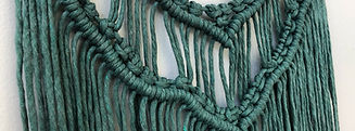 Macrame wall hanging in Juniper Green
