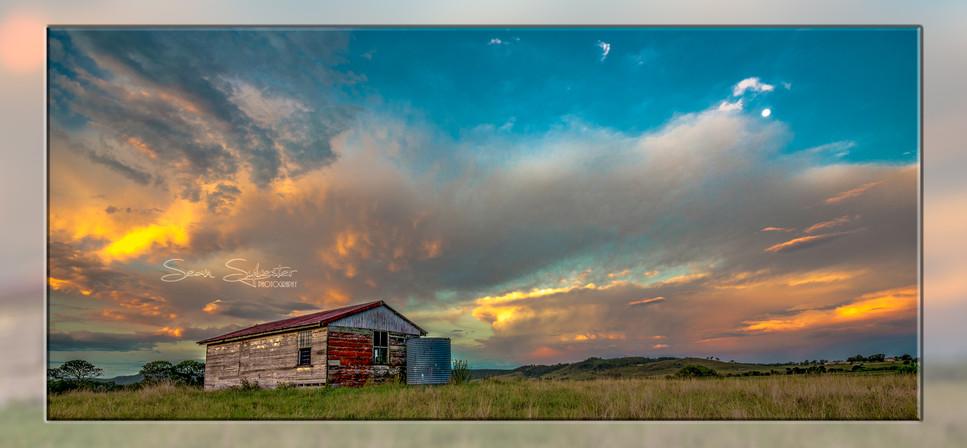 Sunset over the Dairy Reframed.jpg
