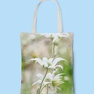 FLANNEL FLOWER TOTE BAG