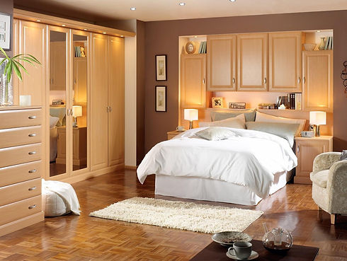 exquisite-small-bedroom-design-with-plus-built-in-wall-closet-plus-soft-brown-one-door-night-stand-t