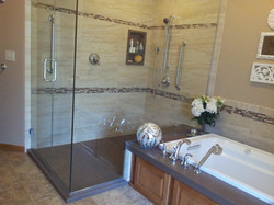 Tub Deck Extends into Shower
