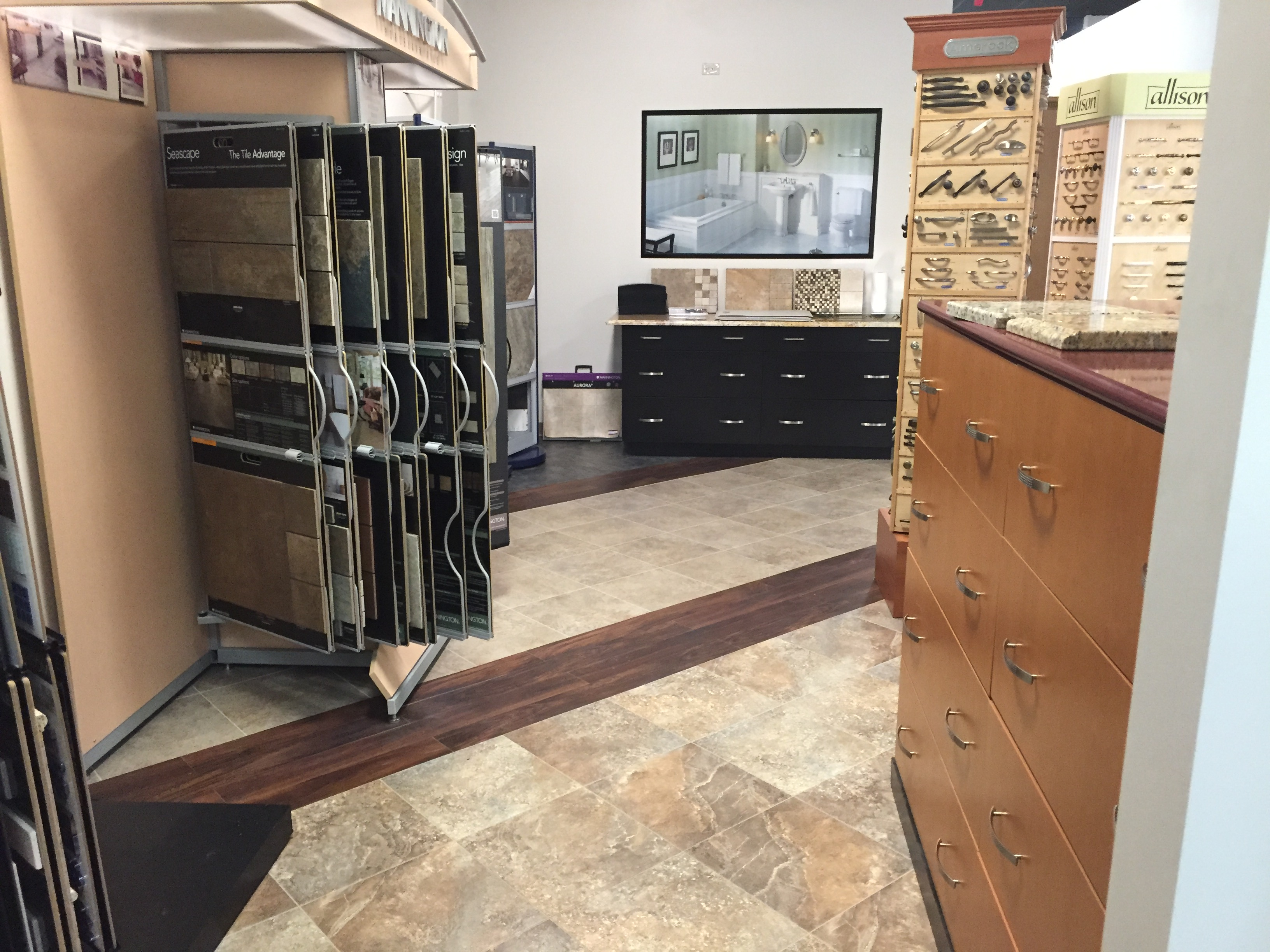 Flooring and countertop selections