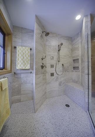 Walk In Shower With Corian Base