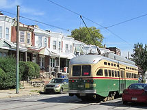trolley, number 15, Girard Avenue, West Philadelphia, Overbrook