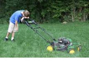 No large lawns to mow.