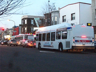 Route 52 buses