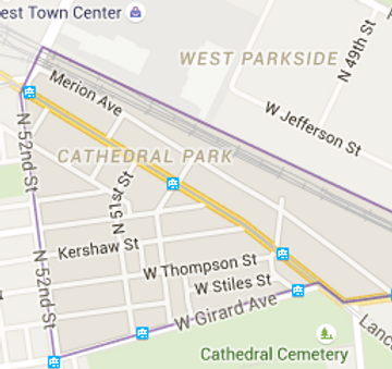 Cathedral Park map