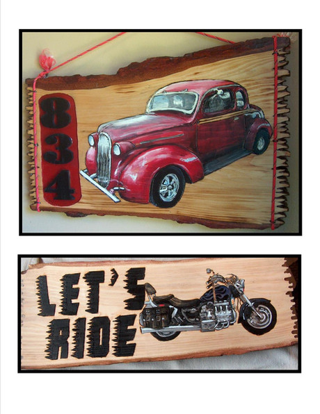 Car and Motor Cycle Slab Sign