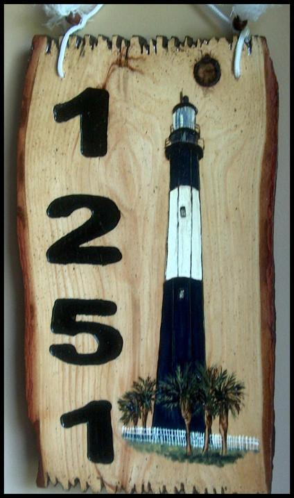 Lighthouse Custom Slab Sign