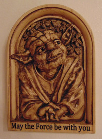 "3d Carve of Yoda ""May the force be with you"""
