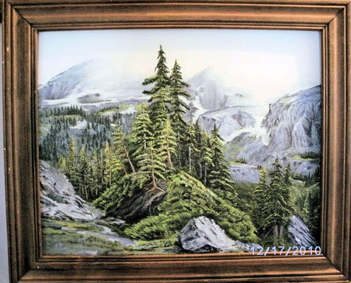 Acrylic Mountain Wilderness Painting