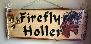 Custom Camp sign with horses