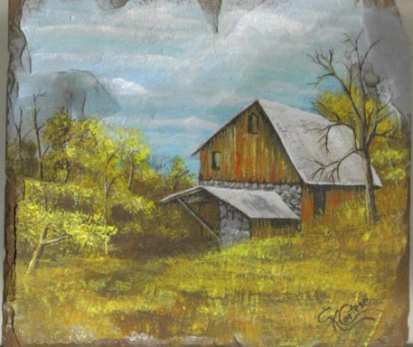 rustic barn scene