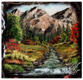 Mountain scene with stream
