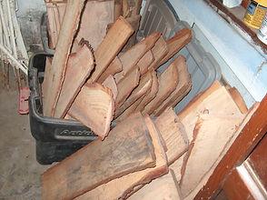 Slab wood drying