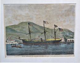USS Monongahela Lithograph