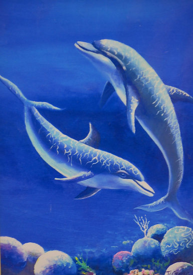 Dolphins Print