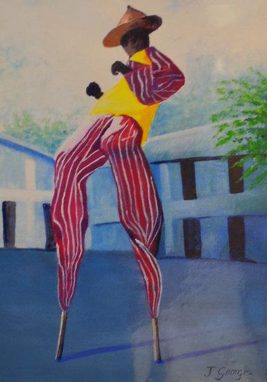 Red Stripe Moko Jumbie