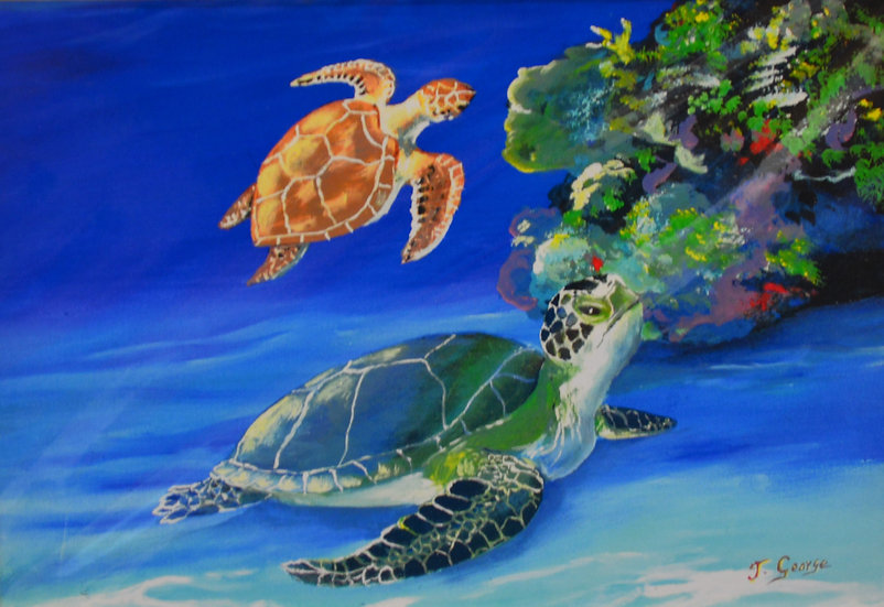Two Turtles Print