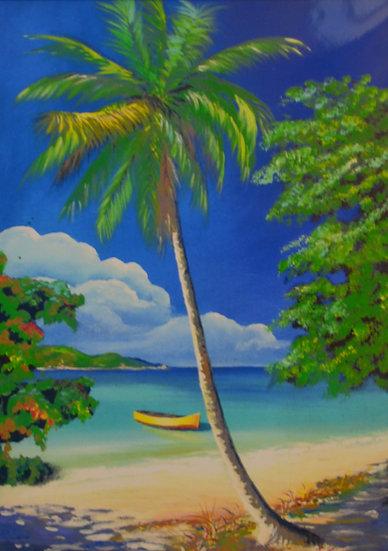 Palms on Beach Print