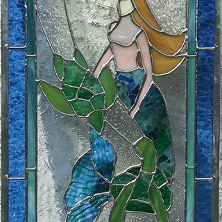 Mermaid and Sea Turtles