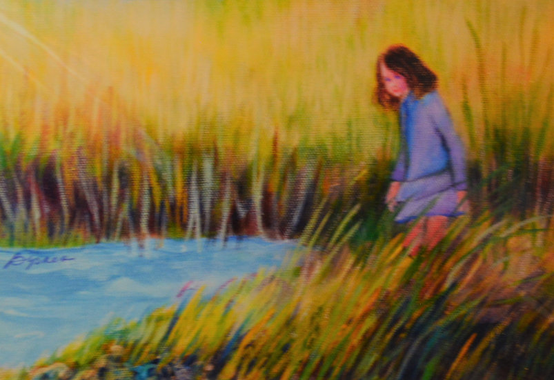 Girl in The Reeds