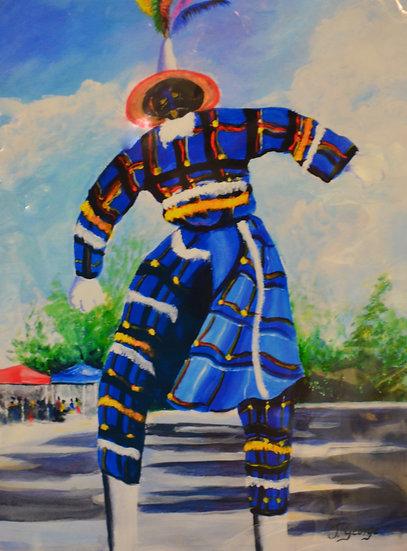 Blue Moko Jumbie