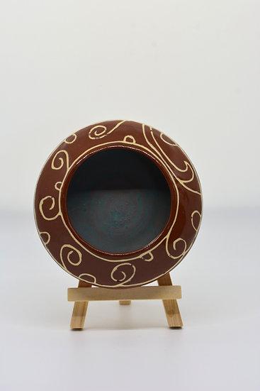 Water Design Clay Dish