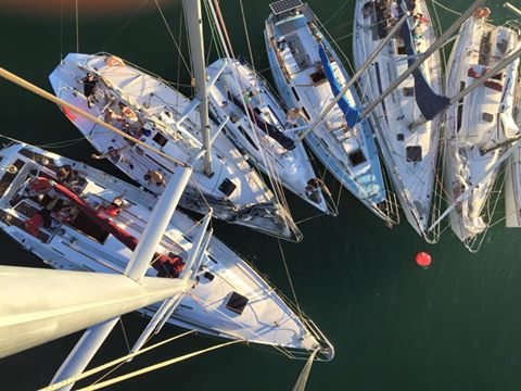 yachts on LBYC mooring at Lowry Bay
