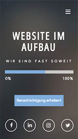 "Landingpage website templates – ""In Kürze verfügbar""-Website"