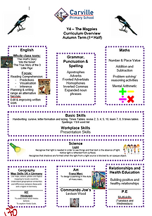 Year4 Curriculum Overview Autumn 1 2020.