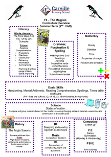 Curriculum Overview - Year 4 Summer 2 20