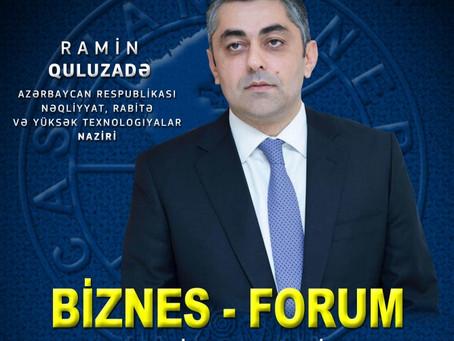 """Nəqliyyat, Rabitə və Yüksək Texnologiyalar Nazirliyi ilə """"Caspian European Club"""" birgə biznes-forum"""