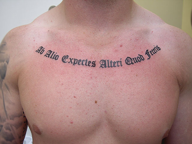Tattoos Old English Writin 77