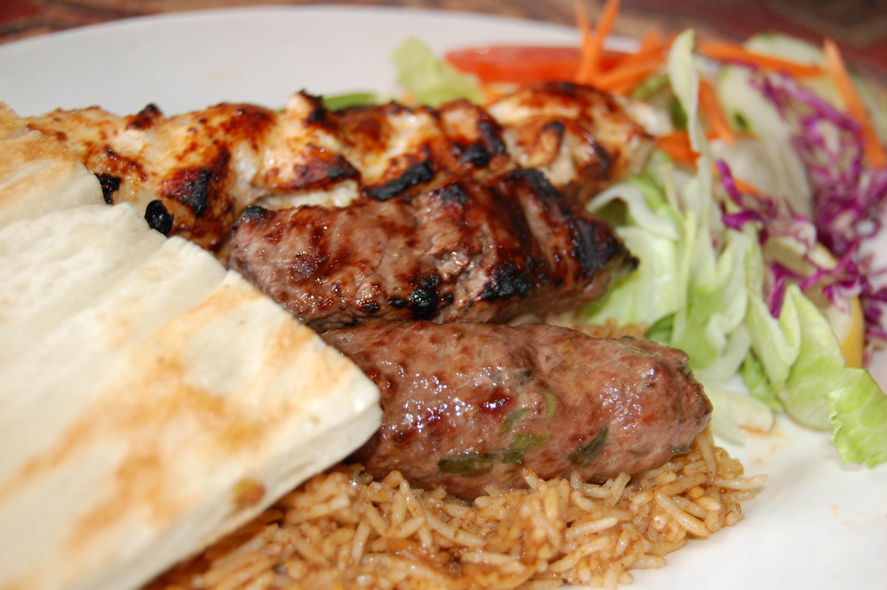 Sheesh Kebabs/ Naan Bread/ Pillau