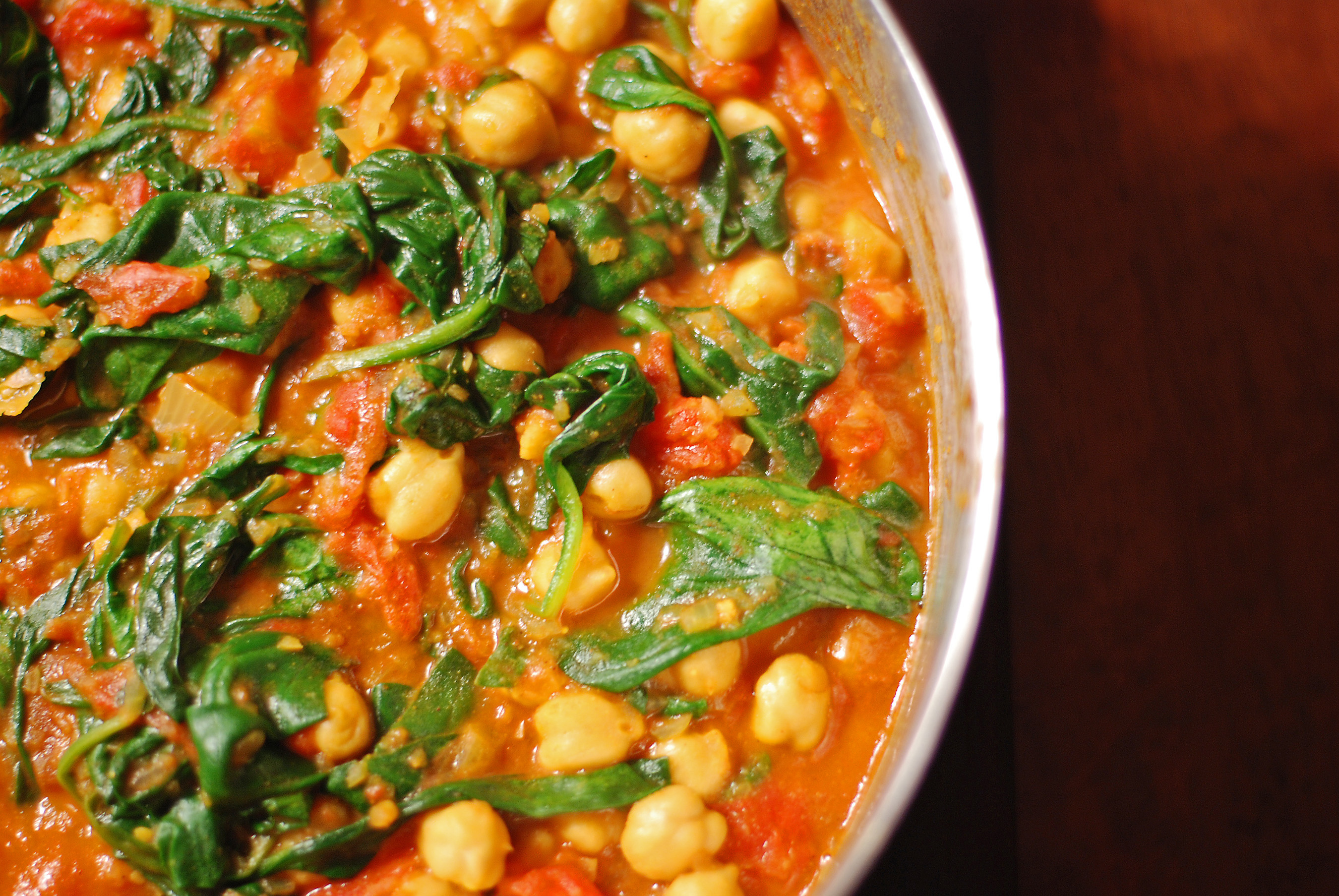 Chana & Spinach Curry - A Delight