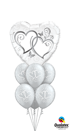 Entwined Hearts Silver Luxury