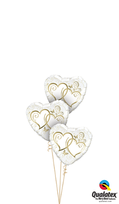 Entwined Hearts Gold Triplet